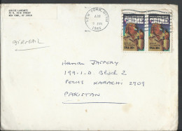 """USA 1984 Crime Prevention, McGruff The Crime Dog, """"Take A Bite Out Of Crime"""" 20¢ US Postage History Cover From USA - Brieven En Documenten"""