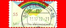 GERMANIA - Usato - 2010 - Francobollo Di Auguri - Arcobaleno - Greetings - Rainbow - Mit Guten Wunschen - 55 - Usados