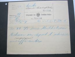 Sylt ,    Heimatbeleg, Telegramm Westerland 1906 - Duitsland