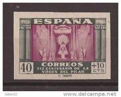 ES998s-3L936.España Spain Espagne.VIRGEN DEL PILAR 1946.(Ed 998s**)sin Charnela LUJO SIN DENTAR CERTIFICADO GRAUS. - 1931-Hoy: 2ª República - ... Juan Carlos I