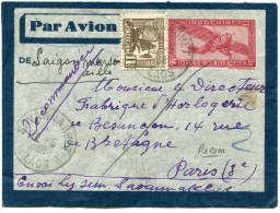 INDOCHINE ENTIER POSTAL  PAR AVION RECOMMANDE  DEPART SAVANNAKHET 12-5-38 LAOS POUR LA FRANCE - Luftpost