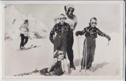 ZERMATT 3 April 1947 - H.K.H. Prinses Juliana Met Prinses Margriet - Royauté - Royalty - Nederland - Netherlands - VS Valais