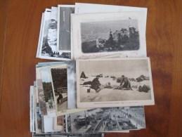 LOT DE 58 CARTES POSTALES ANCIENNES MONDE ENTIER  AVEC ANIMATIONS ET DOS 1900 - Postcards