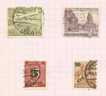 Allemagne Berlin N°43, 44, 47, 48 Cote 4.25 Euros - Oblitérés
