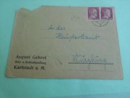 1944 Empire Allemand Deutschereich  Allemagne Troisième Reich Cover Letter  Thème à L'effigie De Hitler - Deutschland