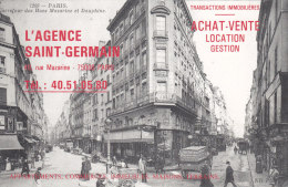 CP PUB AGENCE ST GERMAIN PARIS RUE MAZARINE - Publicités