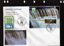 """Nouvelle Calédonie: 1992 Belle Fdc Bloc N° 13 Protection De La Nature """"les Chutes De La Madeleine"""" - FDC"""