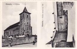 Ellemelle 1: L'Eglise Et Ferme... ( Carte 2 Vues ) - Ouffet