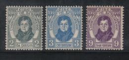W1896 - IRLANDA , Serie N. 55/57  *  Mint. O'Connell - 1922-37 Stato Libero D'Irlanda
