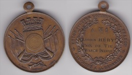 MEDAILLE : UNION DES TIRS COMMUNAUX DE FRANCE, CONCOURS A LA CARABINE Attribuée En Bronze, Diamètre 42 Mm (voir Scan) - Army & War