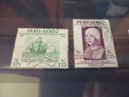 PEROU TIMBRE  Ou SÉRIE POSTE AERIENNE  YVERT N° 113.114 - Pérou