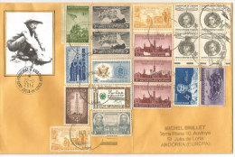 Belle Lettre De Grayling (Michigan) , Ruée Vers L'or. Adressée En Andorre, Avec Timbre à Date Arrivée Andorre - Minerals