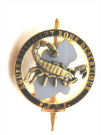 INSIGNE BREVET COMMANDO FFDJ DJIBOUTI SURVIE EN ZONE DESERTIQUE (SCORPION BRONZE) ETAT EXCELLENT - Armée De Terre