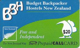 NEW ZEALAND - BBH, SmarTel Prepaid Card $20, Used - Nieuw-Zeeland