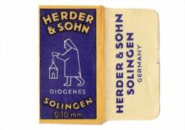 LAME DE RASOIR - HERDER & SOHN DIOGENES SOLINGEN 0,10 Mm GERMANY - Dans Sa Pochette  (3737) - Lames De Rasoir