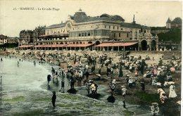 FRANCE - BIARRITZ - LA GRANDE PLAGE - ANIMEE - Biarritz
