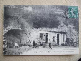 BERTH0814-72- CHATEAU DU LOIR   - MAISON DANS LE ROC - GRANDE GROTTE - Chateau Du Loir