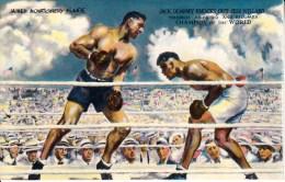 2278 SPORT . BOXE . CARTE SIGNEE  Par JACK DEMPSEY (Champion Of The World) Knock Out JESS WILLARD .Toledo July 1919 . - Boxe