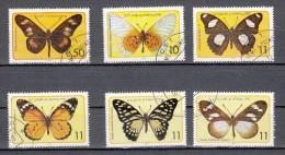 Sao Tome And Principe 1979 Mi Nr 561 - 566 Butterfly , Vlinders - Sao Tome En Principe