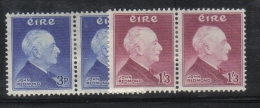 W1953 - IRLANDA 1957 , Serie N. 128/129 : Coppie  * Mint . Redmond - 1949-... Repubblica D'Irlanda