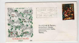 GREAT BRITAIN 1967 CHRISTMAS FDC - Navidad
