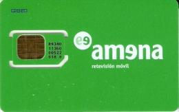 AMR-007/1 TARJETA DE GSM DE AMENA  CON SU CHIP ORIGINAL (NUEVA-MINT) - España