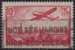 FRANCE Poste Aérienne 11 (o) Avion Survolant Paris (CV 9,20 €) - Airmail