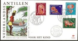 Antillen / Antilles 1967 FDC 48 Fairy-taile Turtle Spider Monkey Tiger Logo Palm - Curaçao, Antilles Neérlandaises, Aruba