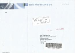 "Maroc Morocco 2002 Tanger Meter Franking Post Office Guichet ""Micro Ordinateur"" Avis De Reception AR Registered Cover - Marokko (1956-...)"