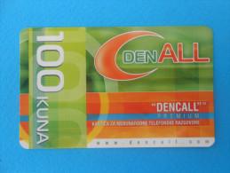 DenCall -  100. Kuna  ( Croatia Prepaid Card ) * Remote Card * International Calling * Dencall Premium - Croatie