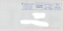 EMA HU 206302 Aubergenville PPDC Yvelines + Flamme Meulan En Yvelines - Fromage Gastronomie - Marcofilia (sobres)
