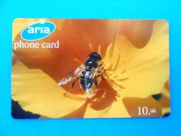 HONEYBEE ( Switzerland prepaid card Aria ) abeille bee biene abeja ape bees abeilles honeybees honey-bee