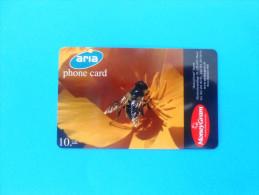 HONEYBEE ( Switzerland prepaid card Aria ) abeille bee biene abeja ape bees abeilles honeybees honey-bee * MoneyGram