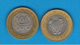BAHRAIN -  100 Fils 1992     BIMETAL - Bahrein