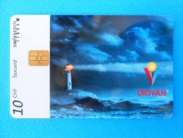 LIGHTHOUSE - DIOVAN ... VOLTAREN NOVARTIS ( Switzerland rare card Taxcard Swisscom) leuchtturm phare phares lighthouses