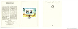 DDR 1989 Mi. Block 98 FDC Folder, Alfred Edmund And Christian Ludwig Brehm, Illustr. Birds Monkey Lion Birds - Cranes And Other Gruiformes
