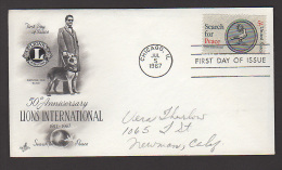 1967 USA FDC Lions International [ C763  ] - United States