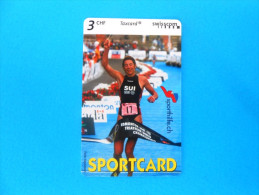 SPORTCARD - TRIATHLON ( Switzerland special issue card without chip ) Taxcard Swisscom Sporthilfe.ch