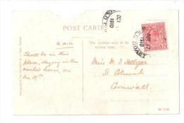 POSTALLY USED 1910 GOLD COAST STAMP POSTMARK ON DAMAGED POSTCARD VIEW OF OBUASI GC WEST AFRICA Ghana - Ghana - Gold Coast