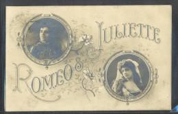 NH013 Prénom JULIETTE & ROMEO COUPLE PHOTO En MEDAILLON FLEURS PHOTO MONTAGE - Firstnames