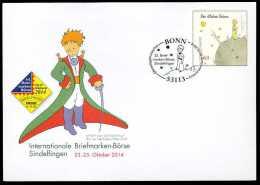 31478) BRD - Ganzsache Michel USo ? - OO Gestempelt 02.10.2014 - 60C Der Kleine Prinz - Briefmarkenbörse Sindelfingen - [7] Federal Republic
