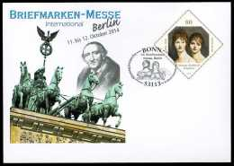 31486) BRD - Ganzsache Michel USo ? - OO Gestempelt 02.10.2014 - 60C J.G. Schadow - Briefmarken-Messe Essen - [7] Federal Republic