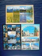 3 Postcards Slovakia - Tatras Mountains - Zilina - Banska Stiavnica - Lake Church Clock Statues - Slovakia