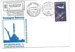 BAYKONUR: Startplatz 1, Affranchissement Du  22 11 1999 Sur Enveloppe - Russia & USSR