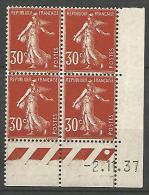 COIN DATE N� 360 / 1937 NEUF* TTB