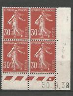 COIN DATE N� 360 / 1938 NEUF* TTB
