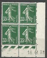 COIN DATE N� 361 / 1938 NEUF* TB
