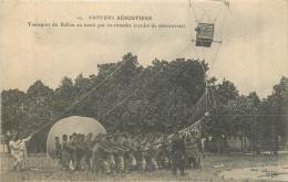 SAPEURS AEROSTIERS  TRANSPORT DU BALLON AU TREUIL - Dirigeables