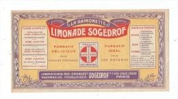 étiquette , La RAMONETTE , Limonade SOGEDROF , écrite Au Verso , 18 X 9.5 , Frais Fr : 1.80€ - Etiquettes