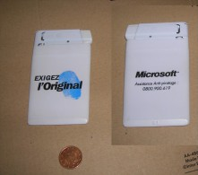 Briquet Publicitaire Extra Plat  MICROSOFT - Années 2000 - Briquets